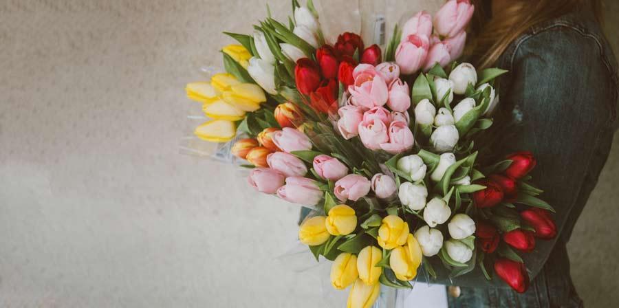 Jarní kytice tulipánů