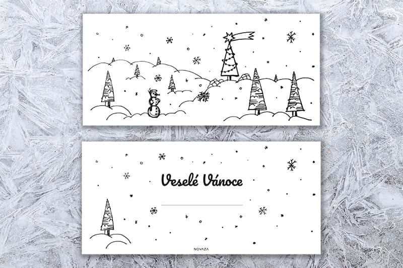 Vánoční přání Novaza - Zasněžená krajina